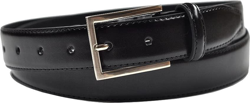 Ashford Ridge Hombres 30mm cinturones de cuero marrón y negro Set de Regalo (cintura tamaños 80cm - 150cm)