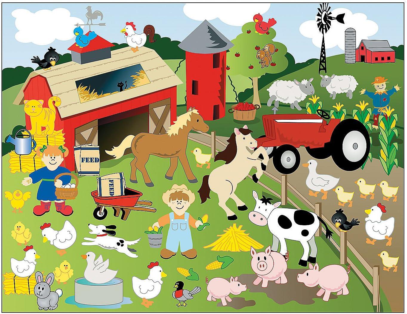 Children/'s Character Fun Sticker Scene Stickers Create your own Scene Stickers
