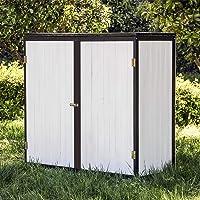 Caseta de jardín Blanco Doble puerta Caseta