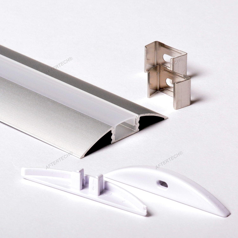 Coque Cover Bianca Tangent aftertech/® 3/m 3/m/ètres 5309/profil aluminium pour bandes lED strip Barre rigide 3/mt
