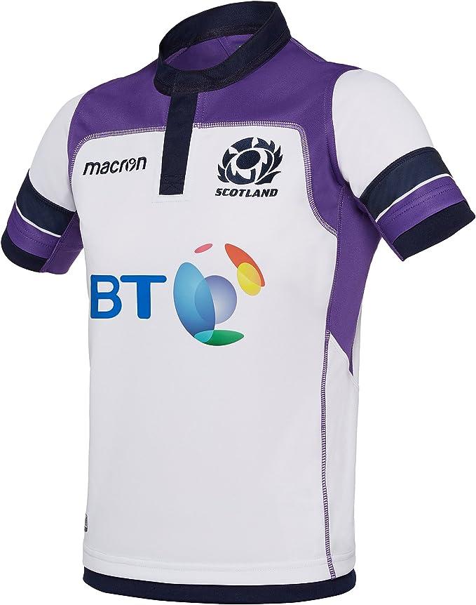 Macron Camiseta Replica Segunda equipación niño Escocia Rugby 2017/18: Amazon.es: Deportes y aire libre
