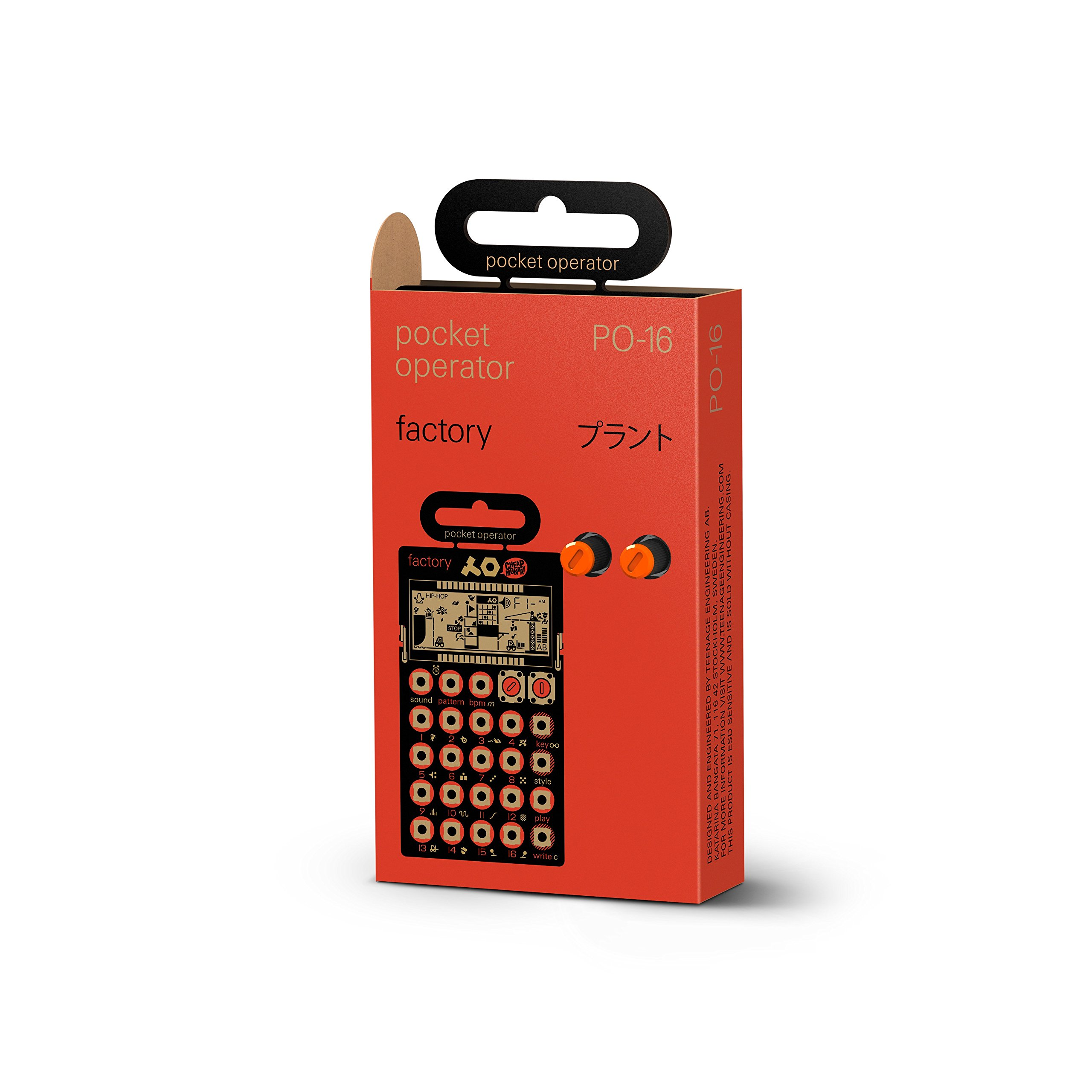 Teenage Engineering PO-16 Pocket Operator Factory Lead and Chord Synthesizer by Teenage Engineering