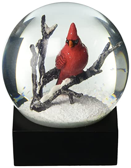 amazon com coolsnowglobes cardinal singing snow globe by