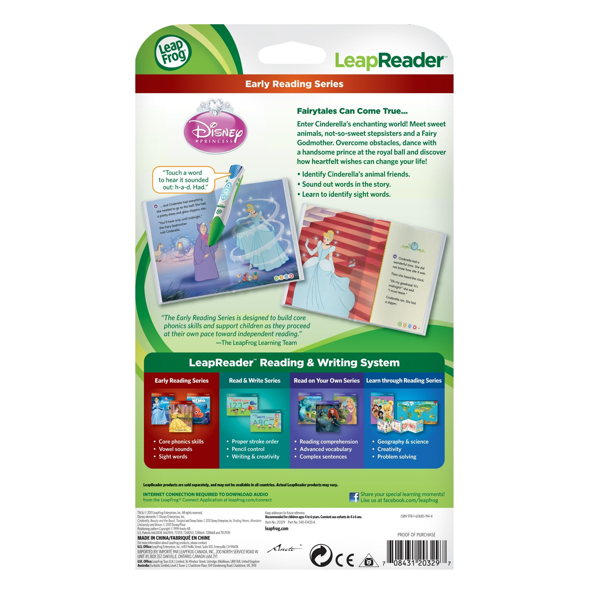 LeapFrog LeapReader Book: Disney Cinderella: The Heart That Believes (works with Tag) by LeapFrog (Image #4)