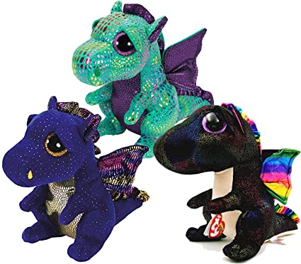 Buy TY Beanie Boos Dragons- Saffire (Blue Dragon) Cinder (Green Dragon)    Anora (Black Dragon) Gift Set Bundle of 3 Stuffed Pets Online at Low Prices  in ... 5db65f845b9