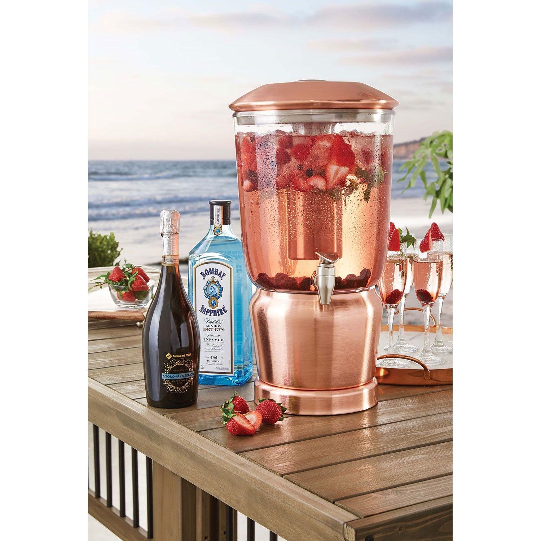 Member's Mark 3-Gallon Tritan Beverage Dispenser - Brushed Copper