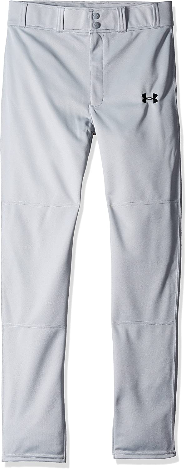 UNDER ARMOUR Heater White Navy Blue Piped Long Baseball Pants NEW Youth Boys XL