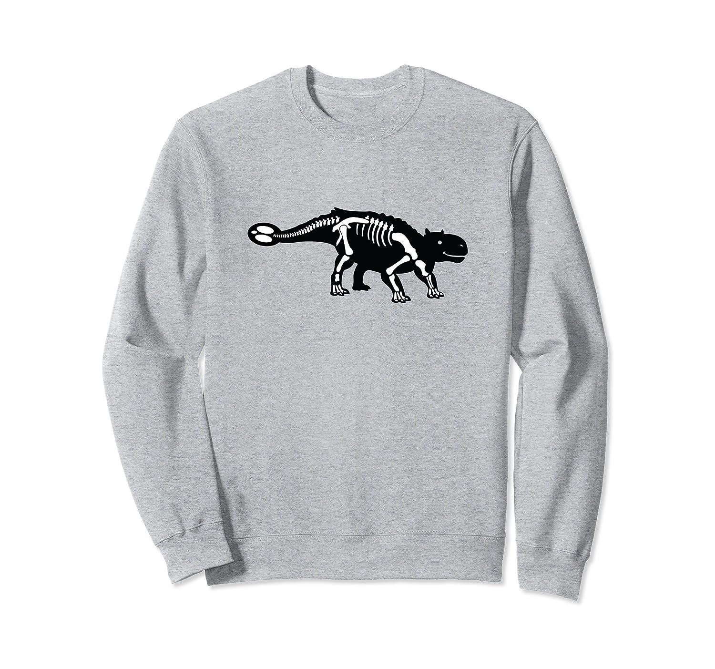Ankylosaurus Fossil Sweatshirt | Dinosaur Skeleton-mt