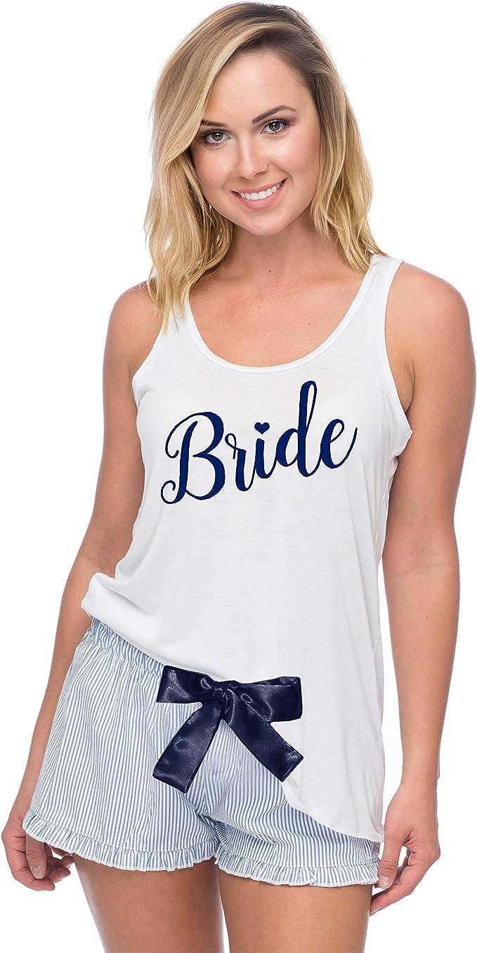 Piped Detail Rose Gold PJ/'s Pyjama Shorts Cotton Set Virgo Star Sign Zodiac  Nightwear Bride Loungewear Wedding Gifts Jersey