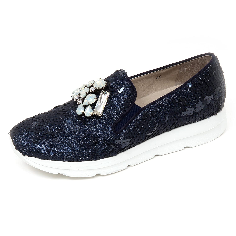 D0710 mocassino donna UNO 8 UNO 181 SIRI scarpe blu slip on shoe woman  Blu