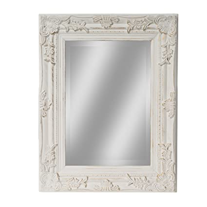 elbmöbel Spiegel 45 x 35cm Klein in weiß Antik mit Patina ...