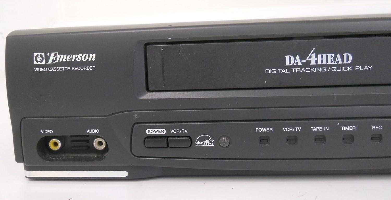 amazon com emerson ewv401b video cassette recorder player vcr da rh amazon com Emerson VCR Ewv401 Emerson VCR Ewv401