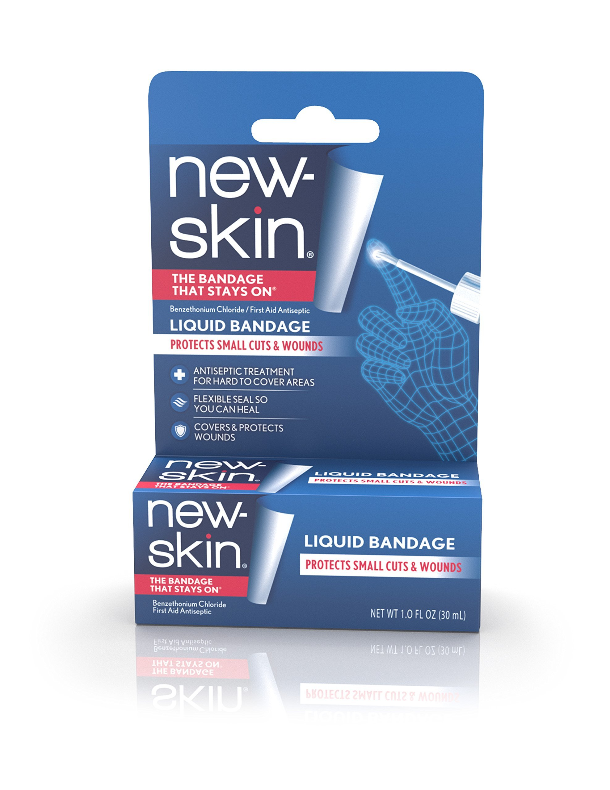 New-Skin Liquid Bandage 1.0 FL OZ (Pack of 4), Liquid Bandage for Hard-to-Cover Cuts, Scrapes, Wounds, Calluses, and Dry, Cracked Skin