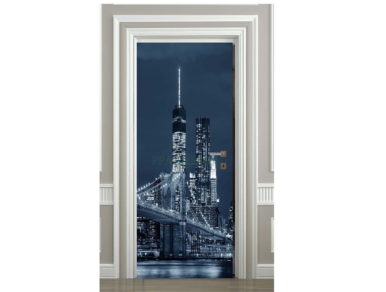 Sticker Porte New York Building - SAPP7048 (63x204cm) PPA-DESIGN