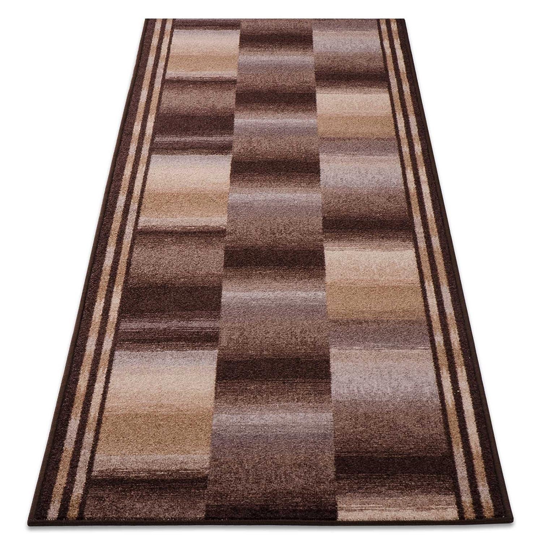 Teppichläufer Ikaria braun 16802 Teppich Läufer Brücke Flur Meterware in 44 Größen, 3 Farben, rutschsicher, 100 cm breit