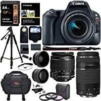 Canon EOS Rebel SL2 DSLR Camera, EF-S 18-55mm STM,+ Canon 75-300mm Telephoto Lens, Full Manufacture Warranty + Accessories
