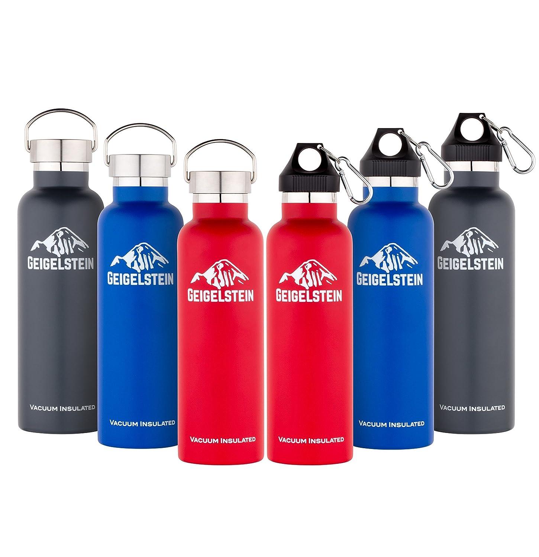 GEIGELSTEIN® 750 ml Vakuum Edelstahl Trinkflasche + GRATIS ...