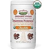 ORGANIC PROTEIN POWDER Plant-Based (Fair Trade Creamy Chocolate Fudge) by MARYRUTH - Vegan, Gluten Free, Non-GMO, Soy Free, Dairy Free, Nut Free, No Fillers, No Additives, Paleo Friendly 16.3 oz