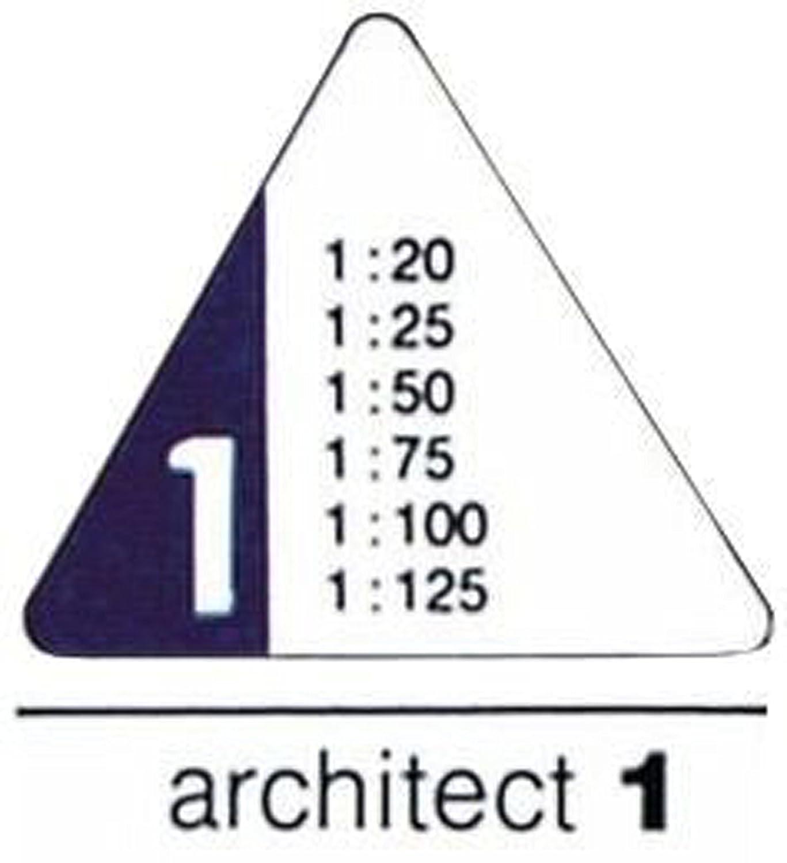 Rumold Dreikantma/ßstab 150//150KE//1//30 30 cm wei/ß Kunststoff architect 1