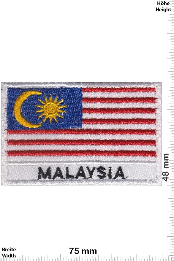Singapore - Iron On Patches - L/änder Aufn/äher Embleme B/ügelbild Aufb/ügler Patch-Iron-Singapur Flagge