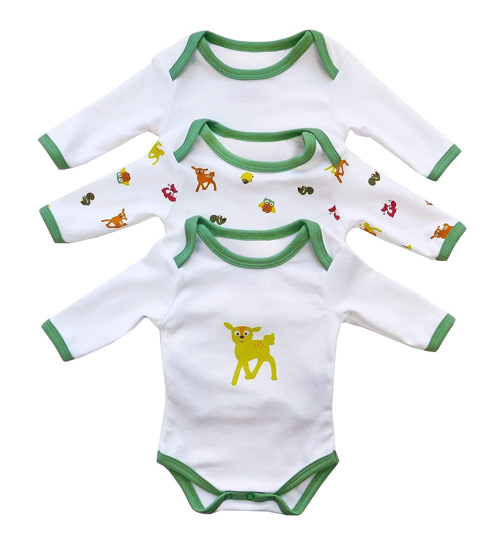 Slumbersac Baby Bodysuit Long Sleeve Dinosaur 3 Pack Size 68cm//3-6 Months