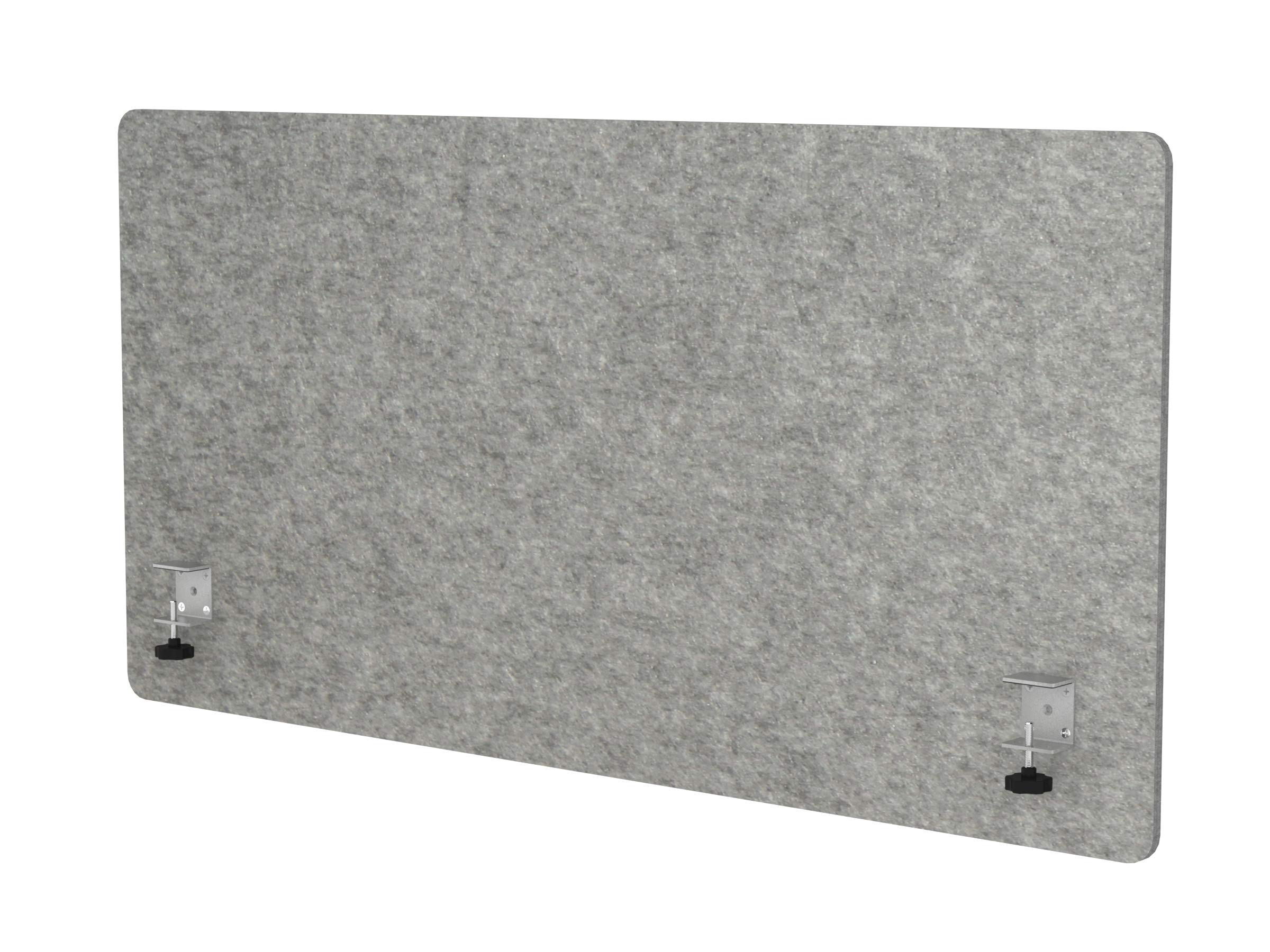 "VaRoom Acoustic Partition, Sound Absorbing Desk Divider – 48"" W x 24""H Privacy Desk Mounted Cubicle Panel, Ash Grey by VaRoom (Image #3)"
