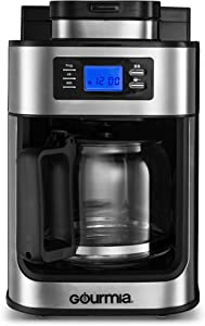 Gourmia-GCM470-Coffee-Maker-with-Built-in-Grinder