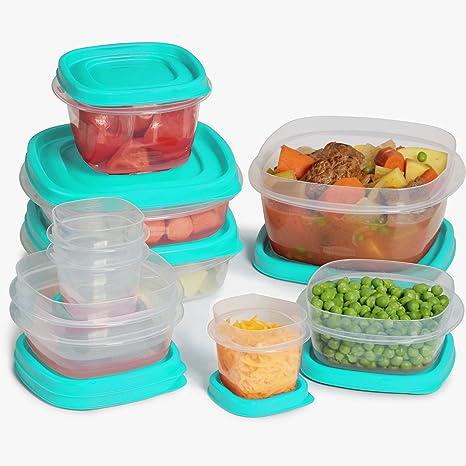 Rubbermaid Easy Find Lid 24-Piece Food Storage Container Set Blue  sc 1 st  Amazon.com & Amazon.com: Rubbermaid Easy Find Lid 24-Piece Food Storage Container ...