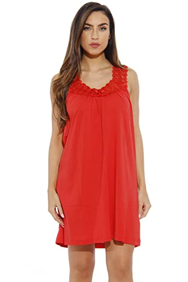 Dream Crest 1523-S Red Dreamcrest Nightgown Womans Pajamas Women Sleepwear  at Amazon Women s Clothing store  db9023f53