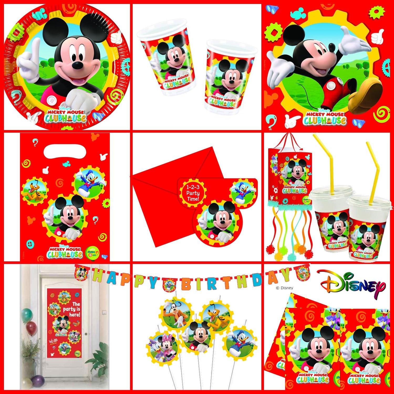4 Geschenkboxen aus Pappe * MICKEY MOUSE CLUBHOUSE * von Disney // CONO // Party Kinder Mottoparty Kindergeburtstag Mitgebsel Geschenktüten Tüten Partyboxen Micky Maus Dekospass