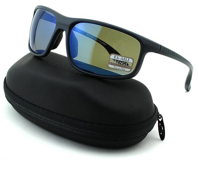 5320ecb5978 Serengeti Levanzo Unisex Sqaure Sunglasses (Sanded Dark Grey Frame ...