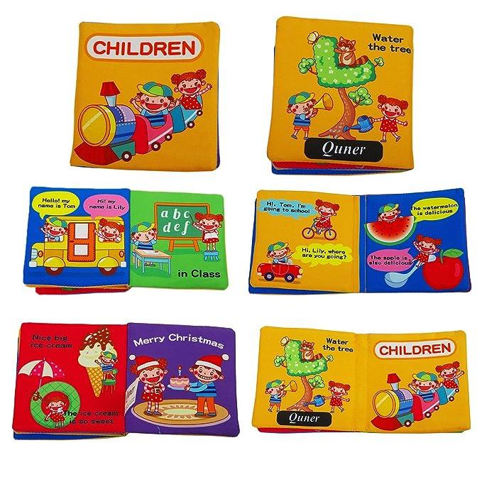 Set de libros de tela para beb/és de Quner libros educativos elefante Talla:1 Satz