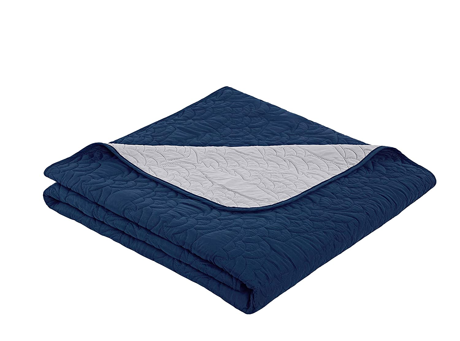VCNY Home Finn 4 Piece Reversible Quilt Set Twin Blue
