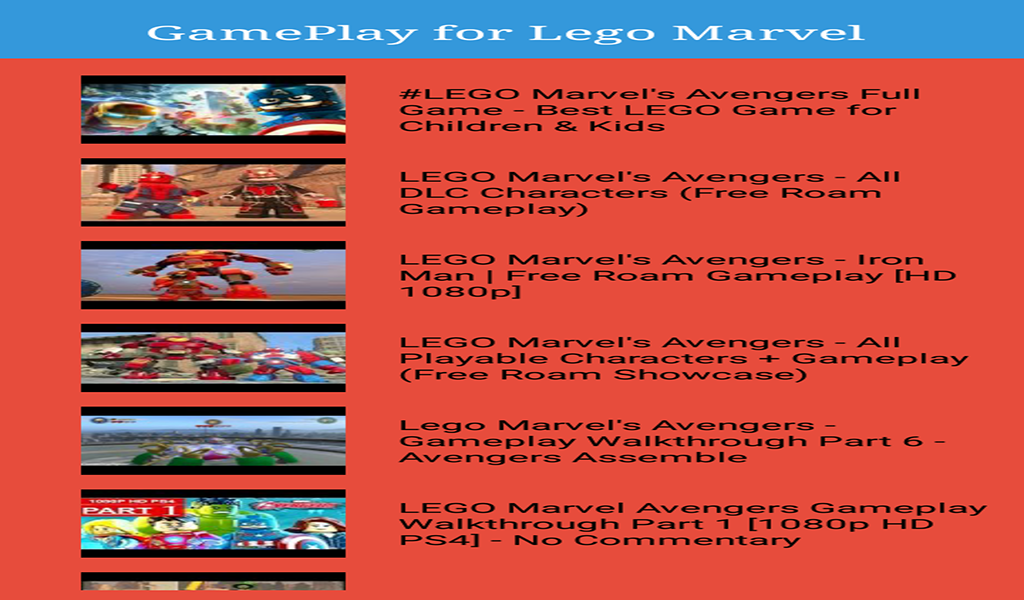 Guide for Lego Marvel Avengers: Amazon.es: Appstore para Android