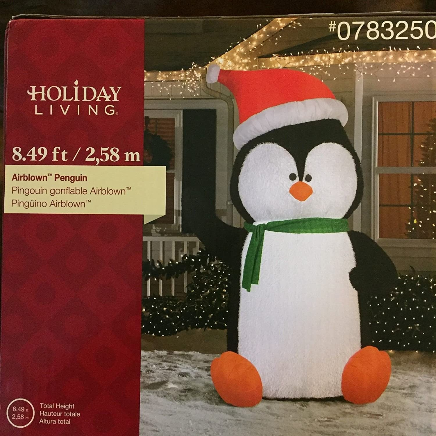 Amazoncom Gemmy 849 Inflatable Airblown Penguin Christmas Holiday Yard Decoration