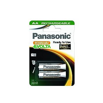Panasonic Blister 2 Pilas Recargables LR6 AA EVOLTA: Amazon.es ...