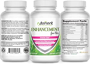 Enhancement for Her- Female Performance and Intimacy Enhancer - Female Enhancement Pills Help Boost Libido, Arousal and Climax Naturally- Increase Energy, Mood, Desire and Satisfaction - 60 Vegan Cap