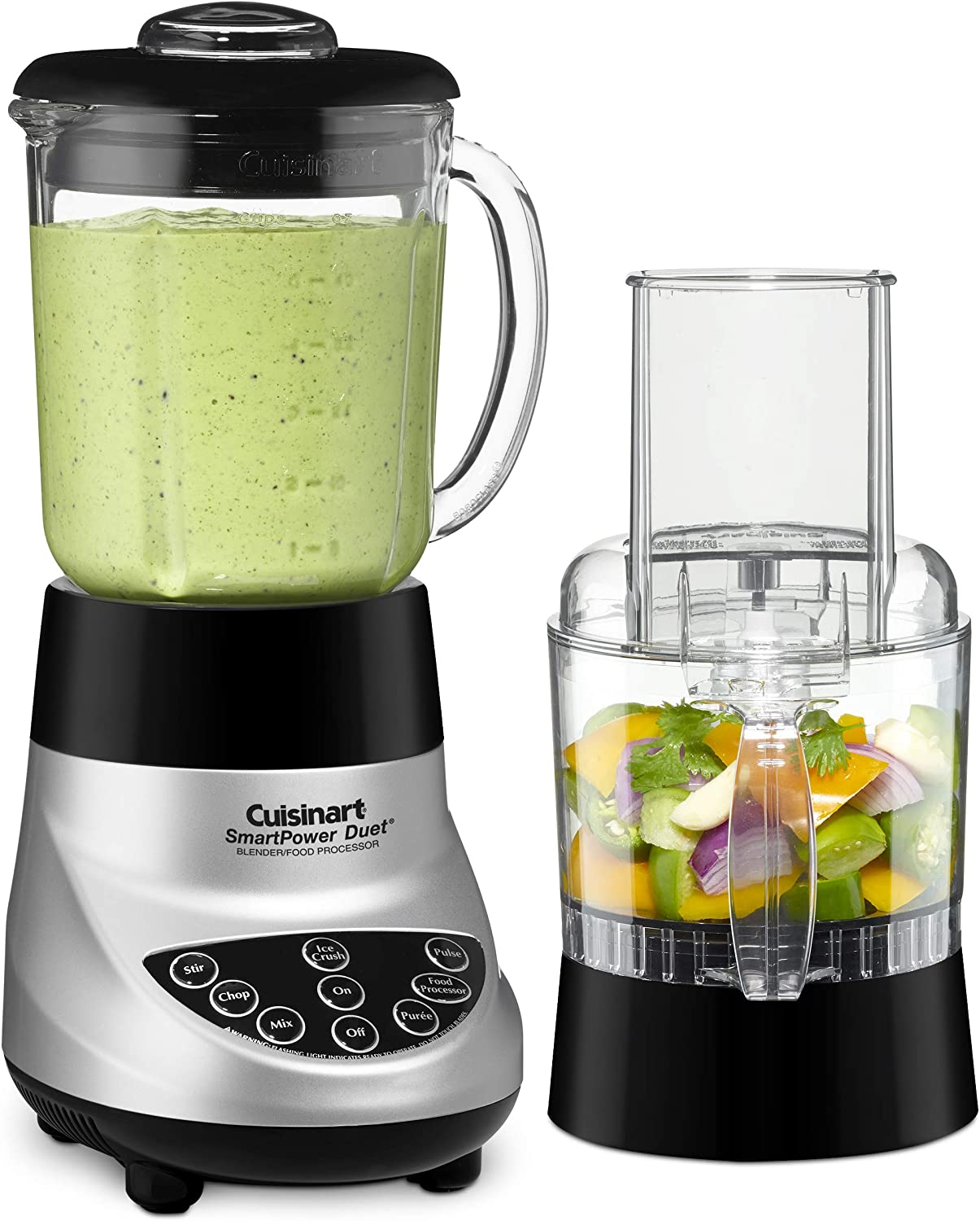Cuisinart BFP-703BC Smart Power Duet Blender/Food Processor, Brushed Chrome