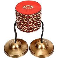 Holy Buddha Symbol Mantra Engraved Manjira Tingsha Cymbals-Beautiful Gift Box for Meditation,Pray,Yoga,Sound Healing, 7…