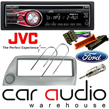 Ford Ka Silver Full Car Stereo Radio Fitting Kit Includes A Silver Facia Adapter
