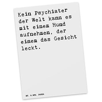 Mr Mrs Panda Postkarte Mit Spruch Kein Psychiater Der
