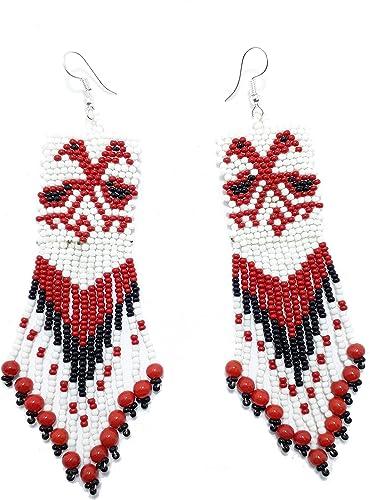 Gunu Handmade Seed Beaded Native style Earring