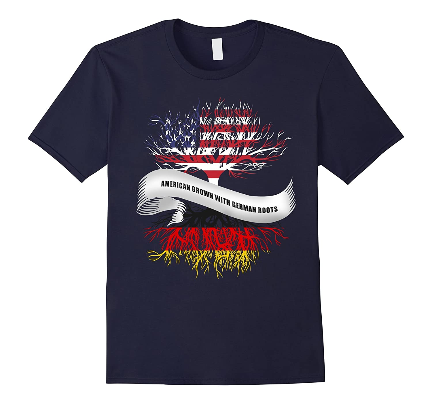 American Grown With German Roots T-Shirt Germany Tee-CD