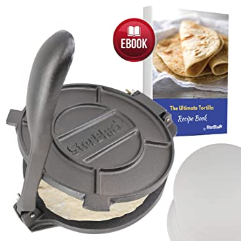 StarBlue 10 Inch Cast Iron Tortilla Press