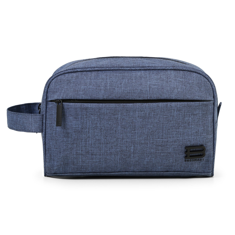 BAGSMART Compact Water Resistant Toiletry Travel Bag Organizer Handy Makeup Cosmetic Bag Carry on Dopp Shaving Kit for Men or Women, Black