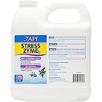 API Stress Zyme Freshwater & Saltwater Aquarium Cleaning Solution 64 oz Bottle