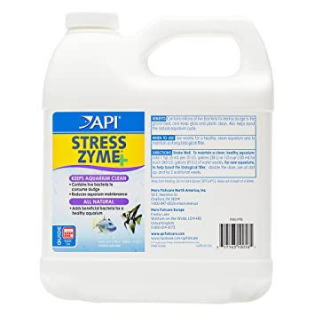 API Stress Zyme Freshwater and Saltwater Aquarium Cleaning Solution Bottle,  White, 1 9 Litre