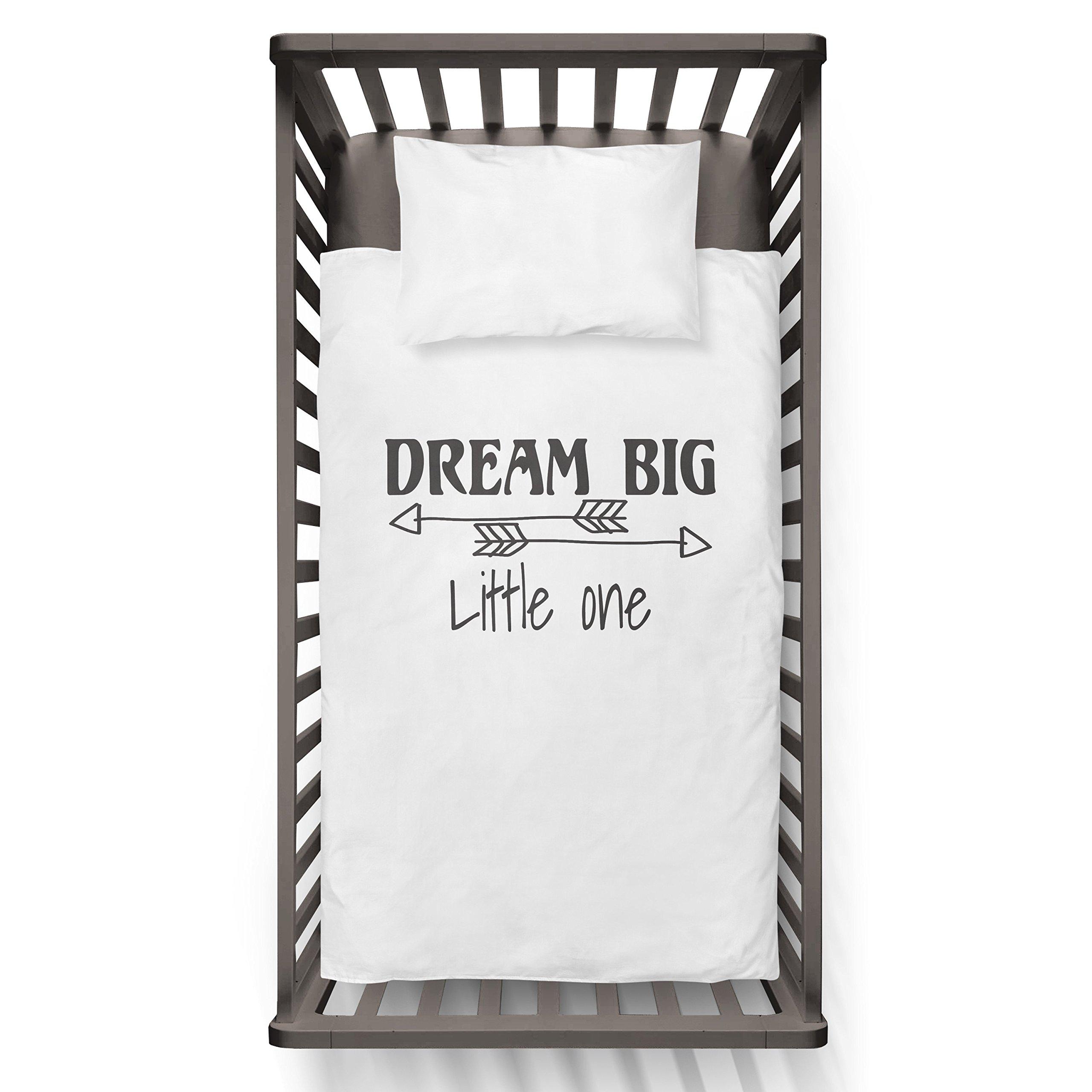Dream Big Arrow Little One Funny Humor Hip Baby Duvet /Pillow set,Toddler Duvet,Oeko-Tex,Personalized duvet and pillow,Oraganic,gift