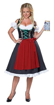 0178624aadc5 California Costumes Women's Oktoberfest Fraulein Costume, Black/Red, X-Small