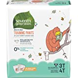 Seventh Generation Toddler Potty Training Pants, Free & Clear, Large Size 3T-4T, 32-40lbs, 88 count (Packaging May Vary)